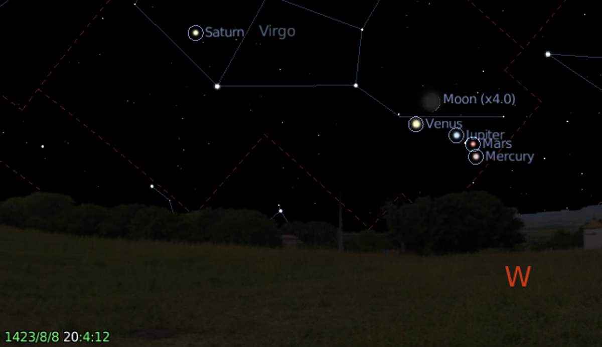 August 8, 1423 8pm - from Stellarium