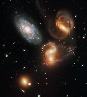 Stephan's Quintet by Hubble