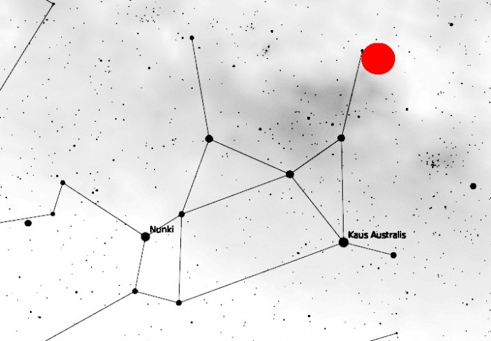 Map of Sagittarius with Image Location Marked
