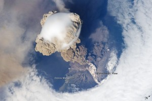 Sarychev Peak Eruption as seen from ISS